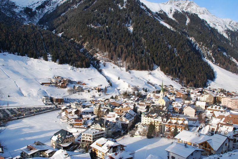 View over Ischgl ski resort