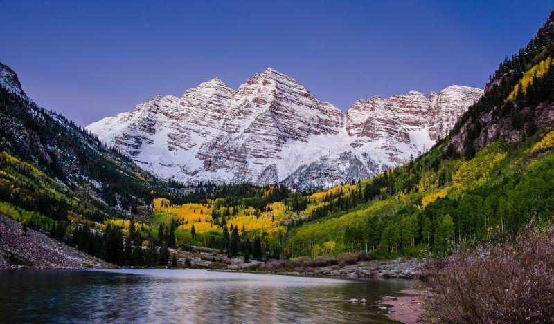 The Maroon Bells, Colorado.