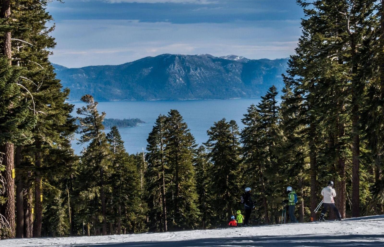 Northstar California overseeing Lake Tahoe