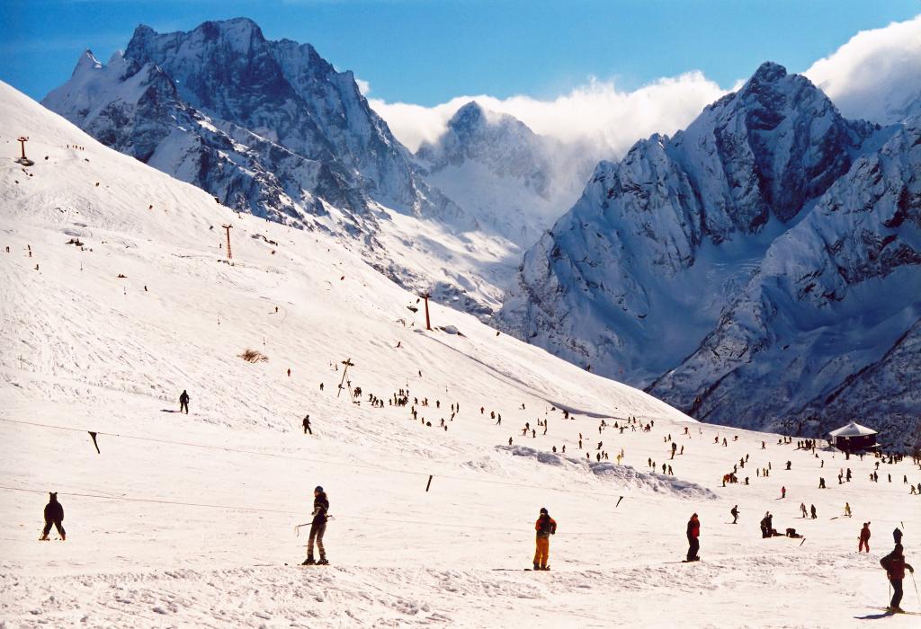 Mountain Dombay - Ski resort. Caucasus Mountains. Russia_Adobe_Marat-min